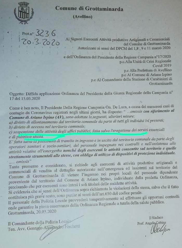 Documento del Comune di Grottaminarda
