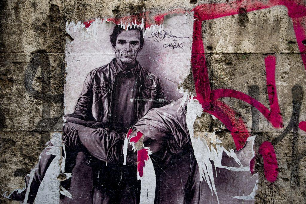 Murales di Pier Paolo Pasolini