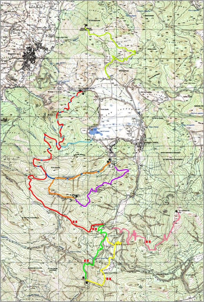 Mappa Sentieri Lago Laceno