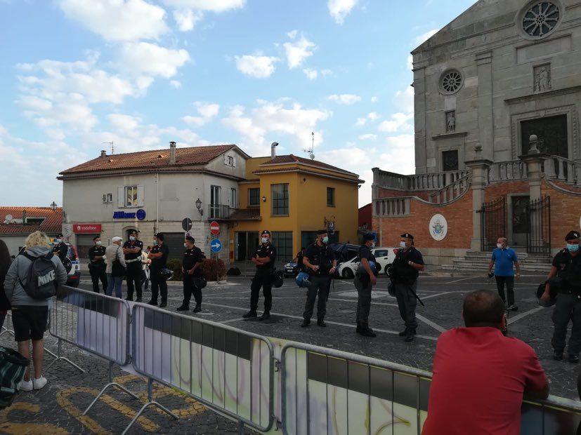 La città del Tricolle bloccata per l'arrivo di matteo Salvini