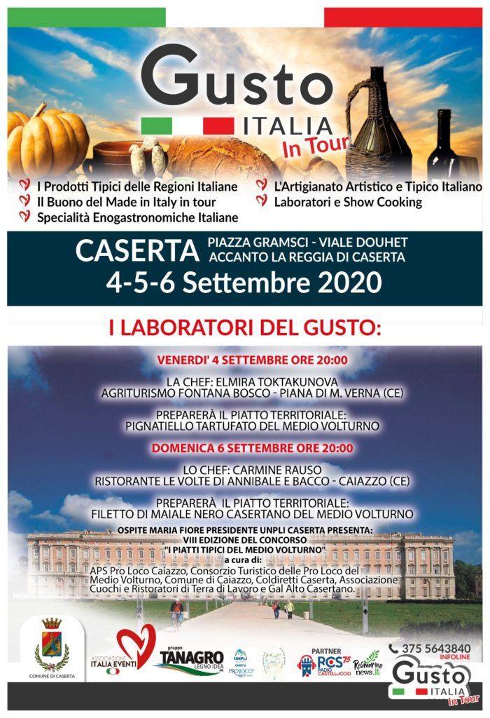 Locandina Gusto Italia in tour
