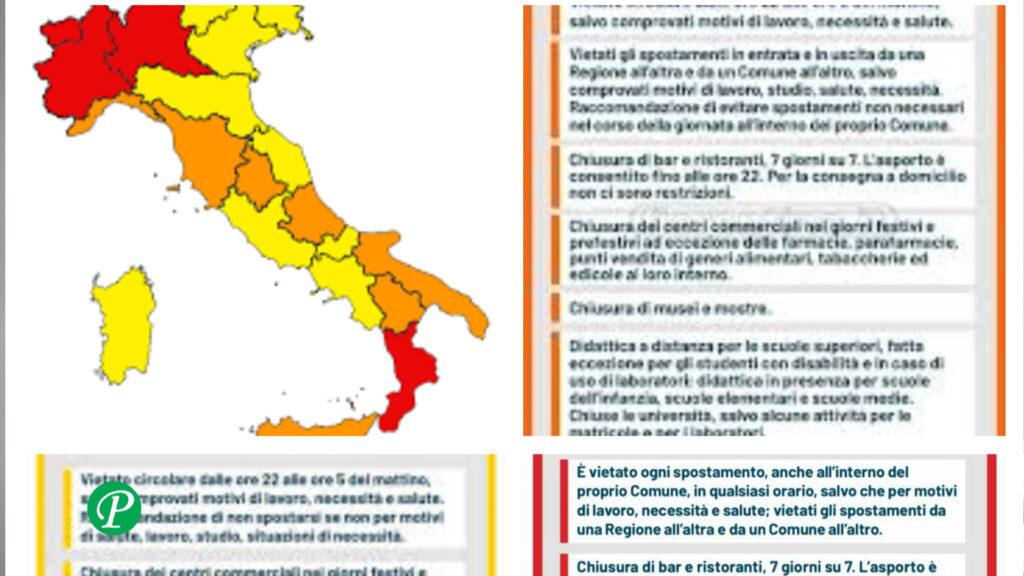 Zona rossa, arancione e gialla