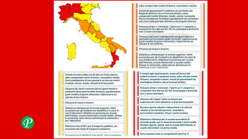 Zona rossa, arancione e gialla: cosa si può o non si può fare