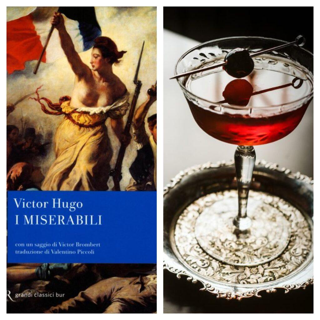 Michelangelo Bruno de Il Castello D'Aquino caffè letterario di Grottaminarda ha attribuito un cocktail al romanzo storico di Victor Hugo