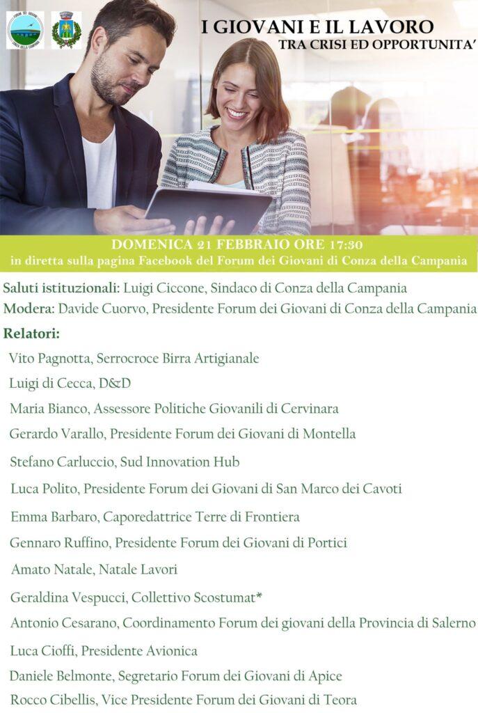 I giovani e il lavoro - Tra crisi ed opportunità: evento online
