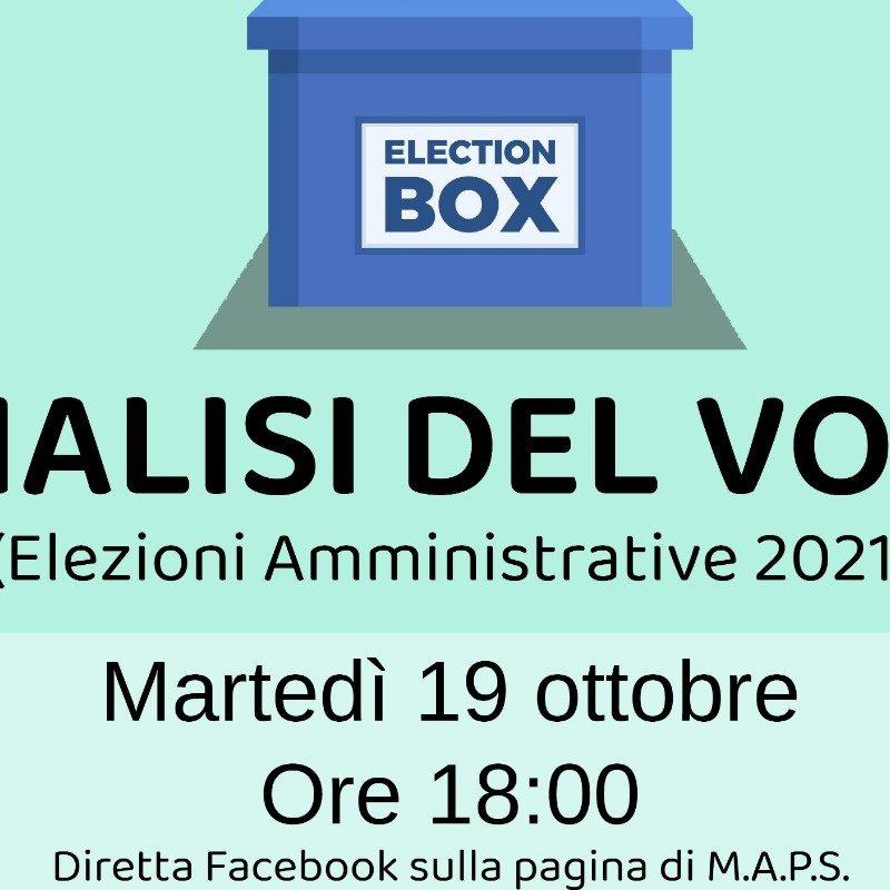 Analisi del voto - Elezioni amministrative 2021